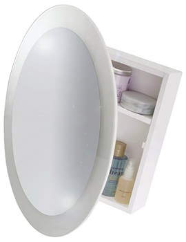 Croydex Saturn Wooden Mirror Cabinet - WC400422