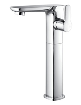 Urban Side Lever Tall Basin Mixer Tap With Clicker Waste