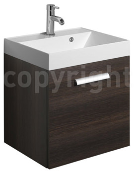 Bauhaus Design 500mm Single Door Wall Hung Basin Unit Panga - DE5000FPG