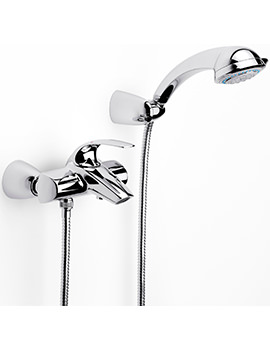 Roca M2-N Wall Mounted Bath Shower Mixer Tap With Handset - 5A0168C00