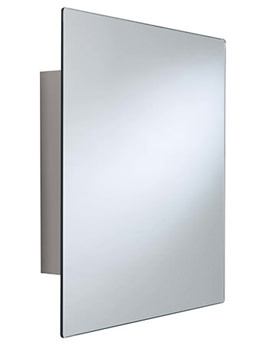 Croydex Dart Stainless Steel Square Door Mirror Cabinet - WC450505