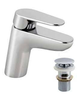 Ascent Mono Basin Mixer Tap With Clic-Clac Waste