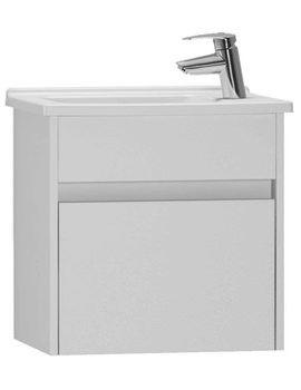 VitrA S50 High Gloss White 500mm Compact Washbasin Unit - 53035