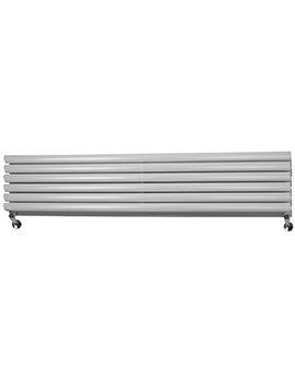 Bounce 1750 x 354mm Double Panel Horizontal Designer Radiator White
