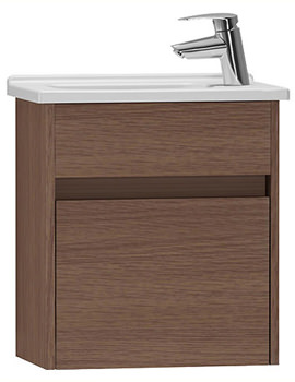 VitrA S50 Oak 500mm Compact Washbasin Unit - 53037
