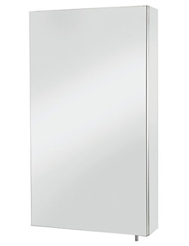 Croydex Anton Stainless Steel Single Door Standard Mirror Cabinet