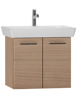 VitrA S20 65cm Wall Mounted Unit And Basin - Dark Cherry