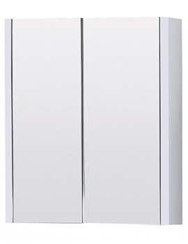 Aqva Valencia Mirror Bathroom Cabinet with Two Doors - VTY052 600mm