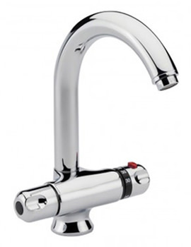 Thermostatic Chrome Mono Sink Mixer Tap - 31020