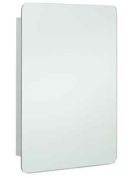 RAK Uno Stainless Steel 460 x 660mm Hinged Single Door Mirror Cabinet
