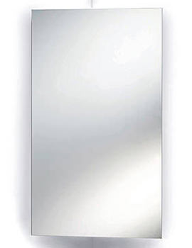 Rosa Stainless Steel Corner Mirrored Cabinet 380 x 650mm