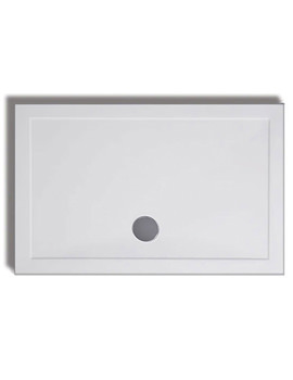 Lakes Low Profile ABS 1500 x 760mm Rectangular Tray With Waste