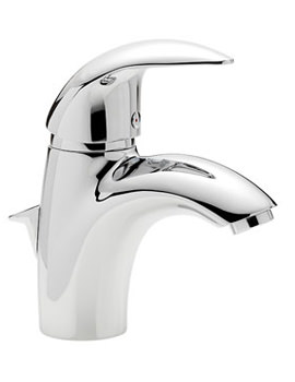 Novara Mono Basin Mixer Tap With Pop Up Waste - 65070