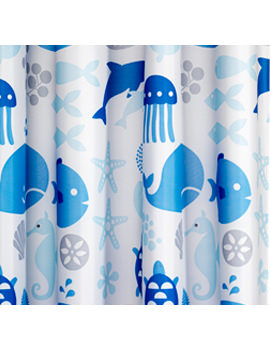 Croydex Coast Textile Shower Curtain - AF288624