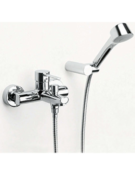 Targa Wall Mounted Bath Shower Mixer Tap With Kit - 5A0160C00