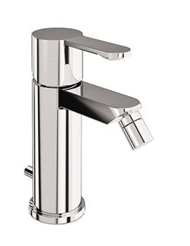 Crystal Bidet Mixer Tap With Pop Up Waste Chrome - CTA4