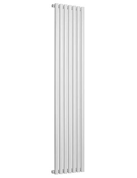 Reina Round Designer Radiator 295 X 1800mm White Finish - RND-RN2918W