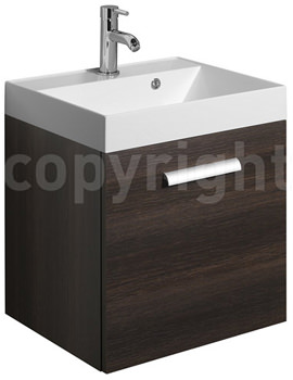Bauhaus Design Plus 500mm Single Drawer Wall Hung Basin Unit Panga