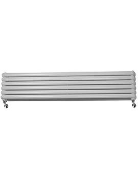 Sage 1800 x 383mm Double Panel Horizontal Designer Radiator White