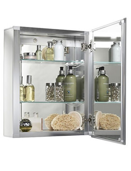 Croydex Single Door Aluminium Cabinet 405 x 510mm - WC101169