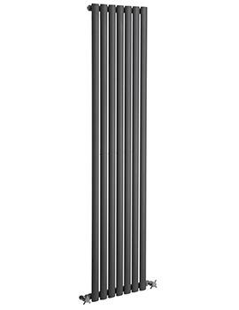 Reina Neva Single Panel Vertical Radiator 413 x 1800mm Anthracite