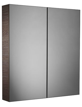 Observe Montana Gloss Finish Double Mirror Door Cabinet - OB60M