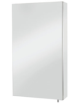 Croydex Colorado Stainless Steel Single Door Large Mirror Cabinet