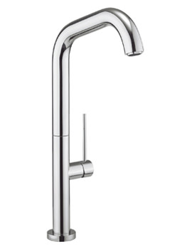 Crosswater Cucina Tube Chrome Side Lever Kitchen Sink Mixer Tap