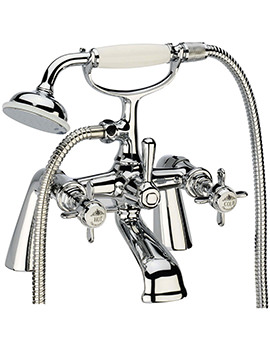 Varsity Deck Mounted Bath Shower Mixer Tap With Kit - TVA42