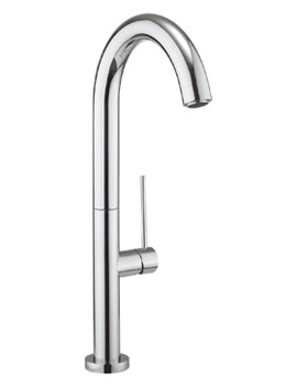 Cucina Tube Chrome Round Side Lever Kitchen Sink Mixer Tap