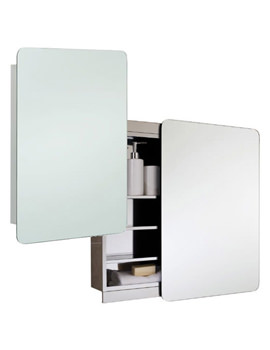 RAK Slide Stainless Steel 500 x 700mm Slider Door Mirror Cabinet