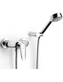 Logica-N Wall Mounted Shower Mixer With Kit - 5A2027C00