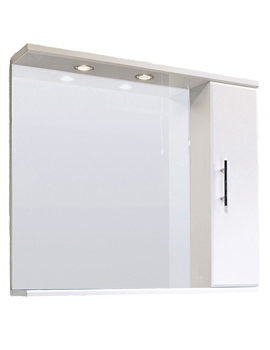 Lauren Mayford 850mm Mirror With Cabinet And Lighting Canopy