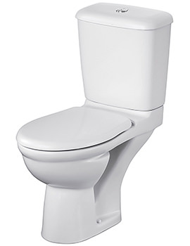 Alto Plus Close Coupled WC Pan With Horizontal Outlet 680mm