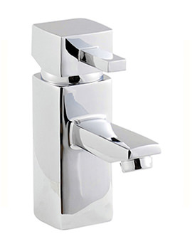 Cube Basin Mixer Tap With Click Clack Waste