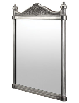 Burlington Georgian Mirror With Polished Aluminium Frame