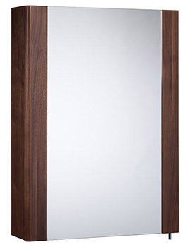Related Tavistock Detail 475mm Walnut Single Mirror Door Cabinet - DE47AW