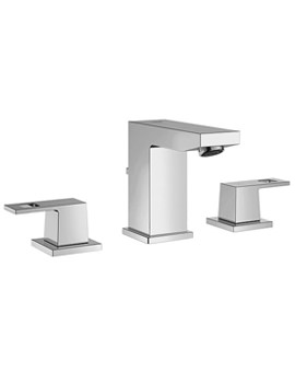 Eurocube Deck Mounted 3 Hole Chrome Basin Mixer Tap - 20351000