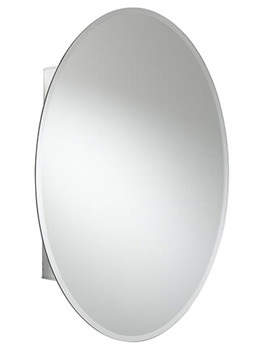 Croydex Orwell Single Door Oval Aluminium Cabinet 535 X 785mm - WC101569