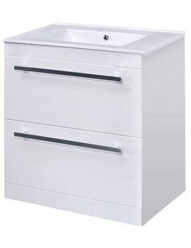 Lauren Minimalist 600mm White Floor Standing Basin Unit