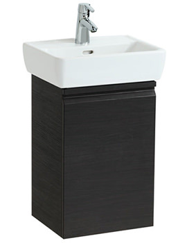 Laufen Pro 380mm Single Door Vanity Unit Wenge - Left Hinge Door