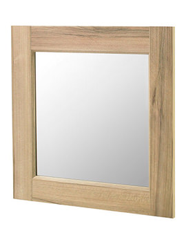 Old London Natural Walnut 600 x 600mm Mirror - NLV513