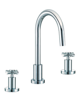Mayfair Series C 3 Tap Hole Basin Mixer Tap With Pop Up Waste - SCX049