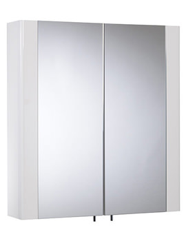 Detail 600mm White Double Mirror Doors Cabinet - DE60W