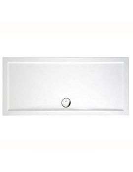 Britton Zamori 1600 x 800mm White Rectangular Shower Tray - Z1231