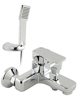 Phase Exposed Bath Shower Mixer Tap With Shower Kit
