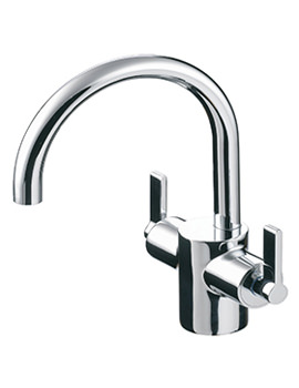 Related Ideal Standard Silver Dual Control Basin Mixer Tap - E0066AA