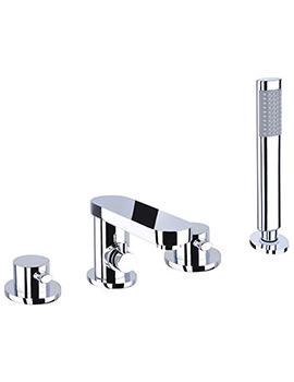 Iye 4 Hole Bath Shower Mixer Tap With Shower Handset  - IYE047