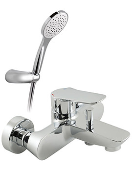 Photon Exposed Bath Shower Mixer Tap With Shower Kit