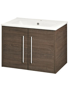 Hudson Reed Horizon Mid Sawn Oak 2 Door Vanity Unit - FHZ021
